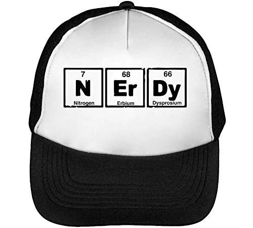Gorras Negro Blanco Hombre Elements Snapback Chemistry Beisbol Nerdy Pv8ax
