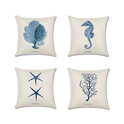 Anna Ocean Park Cotton Linen Theme Decorative Pillow Cover 18