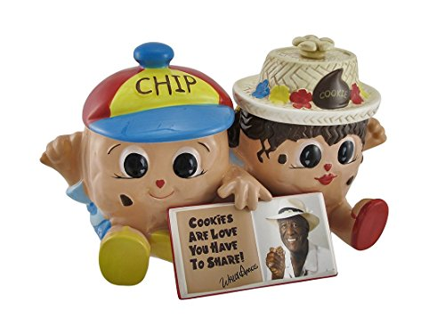 - Famous Amos `Chip and Cookie` Collectible Double Cookie Jar