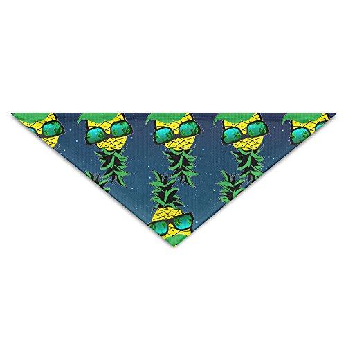 Summer Holiday Pineapple Beard Sunglasses Pet Puppy Dog Triangle Head Scarf Bandana Bibs Collars - Glasses Summer India