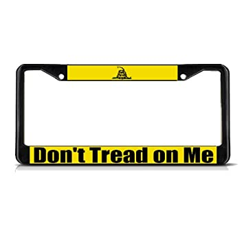 dont tread on me black heavy duty metal license plate frame tag - Don T Tread On Me License Plate Frame
