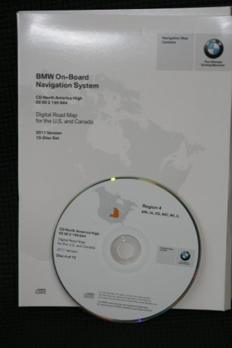 navigation CD # 4 for BMW, Land Rover or Mini Cooper. Disk covers South Central (map date 2011) ()
