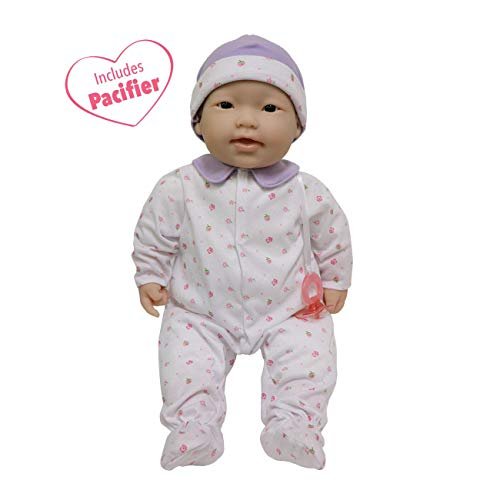 JC Toys, Asian La Baby 20-inch Soft Body Pink Play Doll - For Children 2 Years Or Older, Designed by Berenguer ()