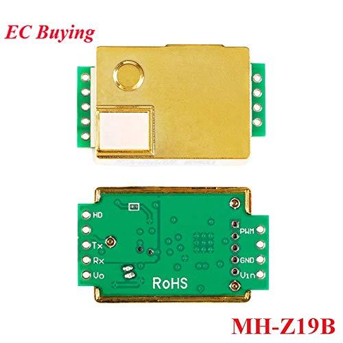 Fevas MH-Z19 Infrared CO2 Sensor Module MH-Z19B Carbon Dioxide Gas Sensor for CO2 Monitor 0-5000ppm MH Z19B (Carbon Gas Dioxide Sensor)