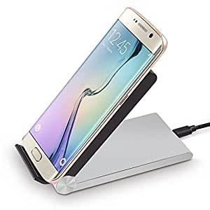 Tmvel T3 Qi Wireless 3-Coils Folding Charging Stand for Qi-Enabled Phones and Tablets Note 4 , S5, S6, Nexus 6, Nexus 5