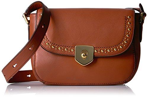 Cole Haan Handbag Saddle (Cole Haan Marli Mini Saddle Studding, Brandy Brown Studding)