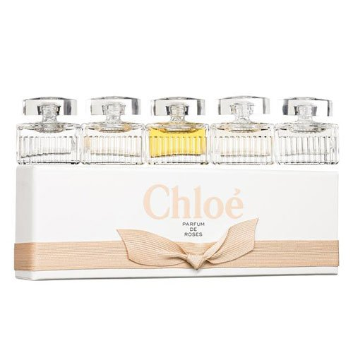 5 Piece Mini Chloe Collection for Women Mini Gift Set - 0.17 oz EDP Mini x 2 Chloe + 0.17 oz EDT Mini x 2 Roses de Chloe + 0.17 oz EDT Mini L'Eau de Chloe (Chloe Gift Set Perfume)
