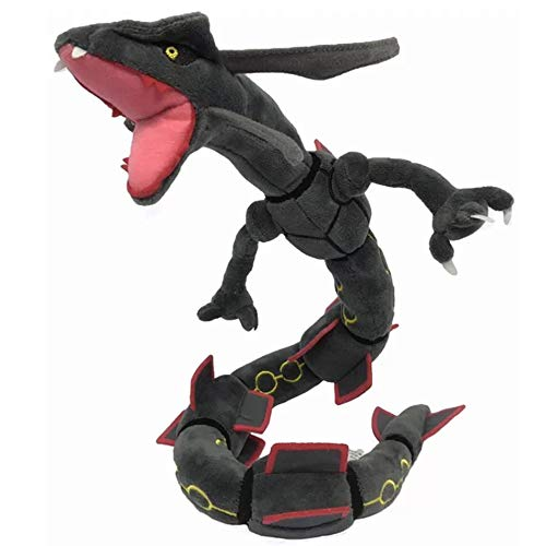 D-Khaleesi Black Rayquaza Figure Animal Toys Plush Doll 32 inches Collectable Xmas Gift (Rayquaza Animal Pokemon Stuffed)