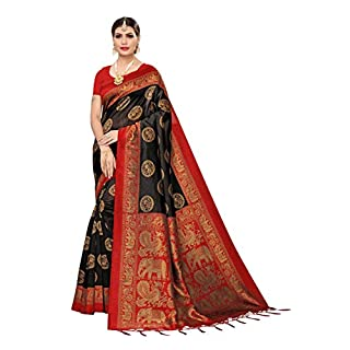 41DbrRWprLL. SS320 Anni Designer Women's Art Silk Saree With Blouse