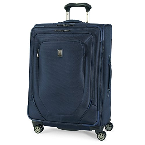Price comparison product image Travelpro Crew 10 25 Inch Expandable Spinner Suiter Suitcase, Navy