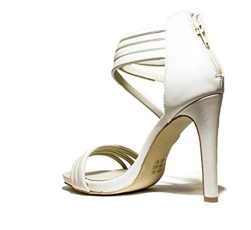 FRANCESCO MILANO L209L zapatos de las sandalias del talón, TALÓN DE ALTA, NUEVA COLECCIÓN PRIMAVERA VERANO 2016 cuero beige