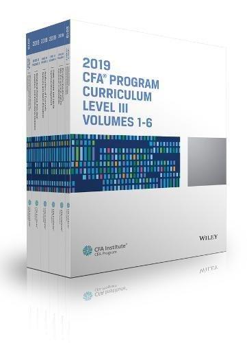 CFA Program Curriculum 2019 Level III Volumes 1-6 Box Set (CFA Curriculum 2019)
