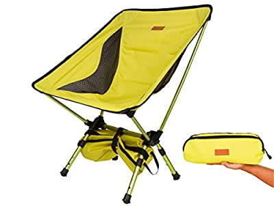 Trekology Portable Camping Chairs with Adjustable Height - Compact Ultralight Folding Backpacking Chair with a Carry Bag, Heavy Duty 300 lb Capacity, Great for Hiker, Camp, Beach, Fishing, Outdoor
