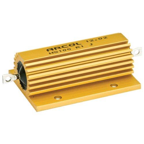 100W Ohmite/Arcol Aluminum 1% Mil-Spec Wirewound Resistor, 75 Ohm