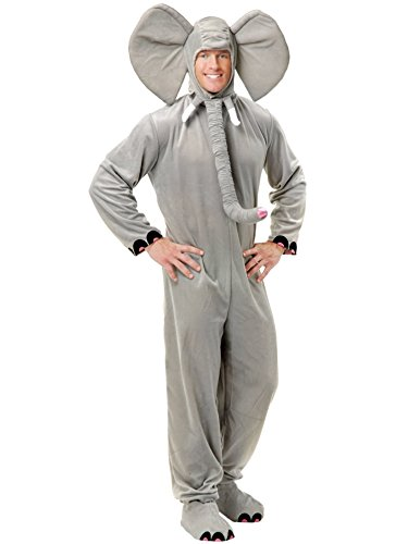 Charades Adult Unisex Mens Womens Elephant Halloween Costume XL Gray ()