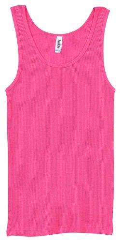 Cotton 2x1 Rib Tank Top - Bella Ladies Combed Ringspun Cotton 2x1 Rib Tank Top - Very Pink - Medium