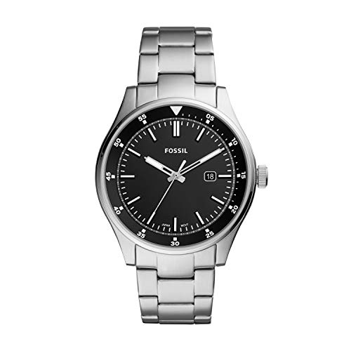 Fossil Quartz Stainless Silver Casual