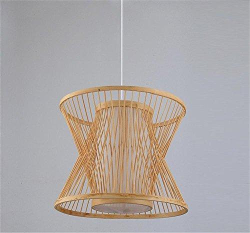 lámpara de araña Rattan colgante linterna de bambú luz China pastoral creativo restaurante salón de té corredor pasillo luz de bambú No contiene fuente de luz , 3