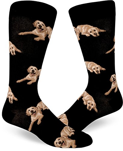 ModSocks Men's Labrador Dog Socks in Black (Fits Most Men Shoe Size ()