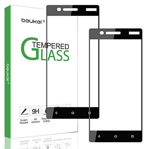 Price comparison product image [2-Pack] Beukei for Nokia 3 (5.0 inch,  2017) [Tempered Glass] Screen Protector [ Glass with 9H Hardness] with Lifetime Replacement Warranty