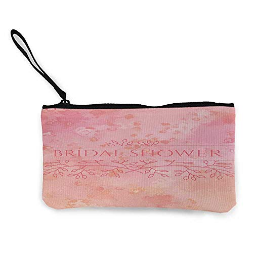 Bridal Shower designer coin purse Bride Invitation Grunge Abstract Backdrop Floral Design Print W 8.5