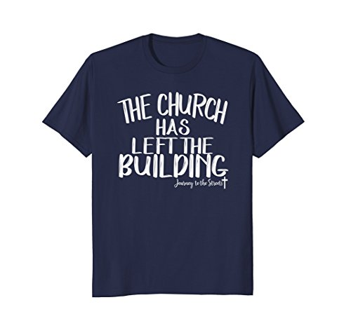 Mens The Church Has Left The Building Tshirt Journey Large (Building Tee)