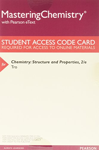 Chemistry: Structure and Properties, Books a la Carte Plus MasteringChemistry with Pearson eText -- Access Card Package (2nd Edition)
