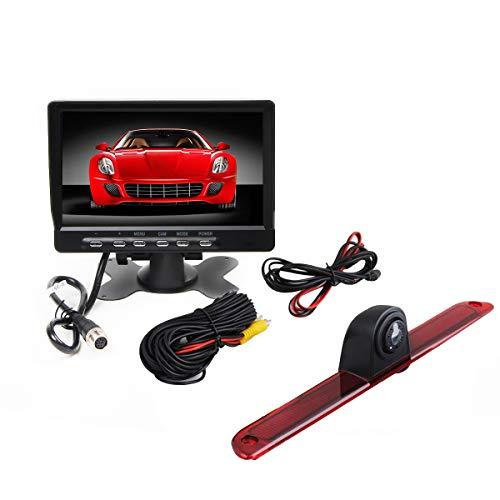 RedWolf 3rd Brake Light Reversing Parking Backup Camera Kit with 7'' TFT LCD Monitor For 2007-2016 Mercedes Benz Sprinter/VW Crafter Vans