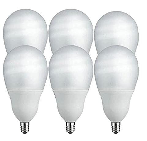 Philips 14W (60W Equivalent) Candelabra Base, CFL Shatter Resistant Light Bulb (6 Bulbs) - Candelabra Compact