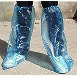 PrimeExpress 使い捨て 防水 ビニールシューズカバー(靴カバー)10足 ロング