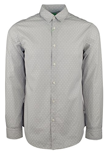Hugo Boss Men's Green Label C-Bustai Geometric Regular Fit Shirt-LG-M by Hugo Boss