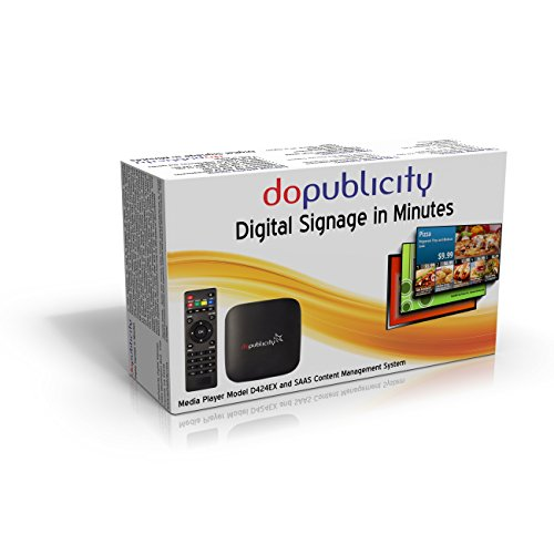 doPublicity Digital Signage Player, Software with over 1,000 Templates for displaying Restaurant Menu Boards, Advertising, Corporate Messaging, Product Promotion and Live Weather on HD and 4K TV