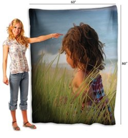 Personalized Photo Throw Fleece Blanket 80