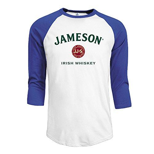 Men's Jameson Irish Whiskey Logo 3/4 Sleeve Raglan T-shirt (Irish Jameson 1780 Whiskey)