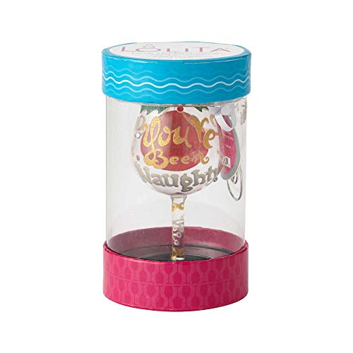 Enesco Lolita 6000225 Mini Wine Naughty X-Mas Wall Hanging