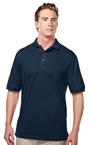Tri Mountain 095 Mens Easy Care Short Sleeve Pique Golf Shirt   Navy   4Xlt