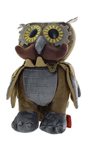 WhimWham Owl Mustache Steampunk 8-Inch Plush 4
