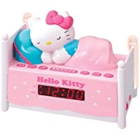 Officially Licensed Hello Kitty KT2052 Alarm Clock Radio with Bed Post NIGHT LIGHTS! Wake to Radio or Alarm ~ Large, Easy to Locate Snooze Button ~ Two Bedposts Light Up for Night Light (On/Off Switch) ~ Built in cord ~ Battery Backup ~ This pink alarm clock radio is a great gift for girls of any age