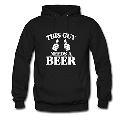 HKdiy HKdiy Beer 1 Custom Needs Guy Classic Black a a This Hoodie Women PawIrxqP