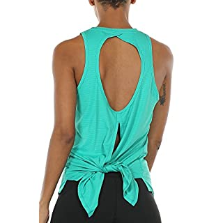 icyzone Open Back Workout Tank Top Shirts - Activewear Exercise Athletic Yoga Tops for Women (XS, Florida Keys)