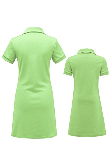 MBJ Kids KDR1511 Mommy and Me Short Sleeve Polo Dress - Made in USA KM Mint by MBJ Kids (Image #1)