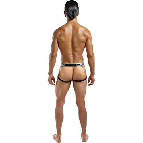 Male Power Men's See Through Ring Jock (Small/Medium, White)