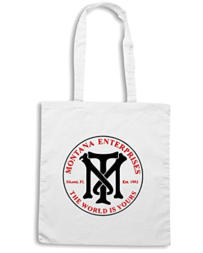 T-Shirtshock - Bolsa para la compra OLDENG00188 montana enterprises Blanco