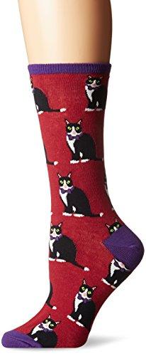 Socksmith Women's Tuxedo Cats Wine - Cat Ham
