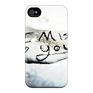 Quality Cynthaskey Case Cover With I Miss You Nice Appearance Compatible With Iphone 4/4s