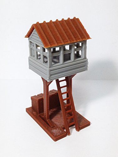 Outland Models Train Railway Layout Trackside Watch / Signal Tower HO Scale (Ho Signal Tower)