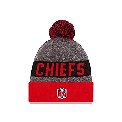 Kansas City Chiefs New Era 2016 NFL Sideline On Field Sport Knit Hat - Red Cuff