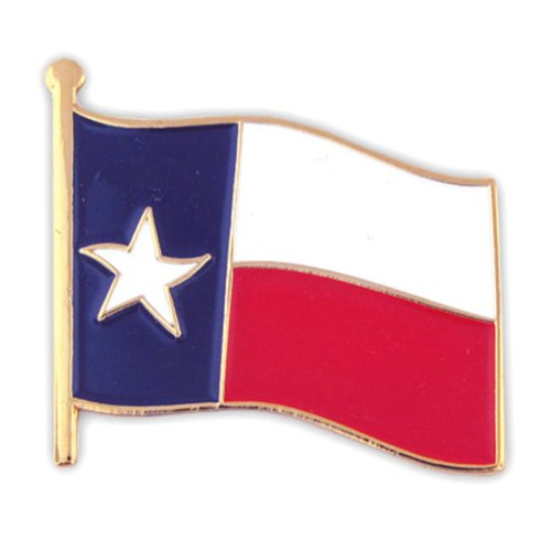 "PinMart's Texas US State Flag TX Enamel Lapel Pin 1"""