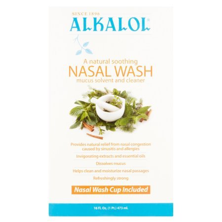 Alkalol - A Natural Soothing Nasal Wash, Mucus Solvent and Cleaner Kit - with Cup, 16-oz. (Nasal Cup)