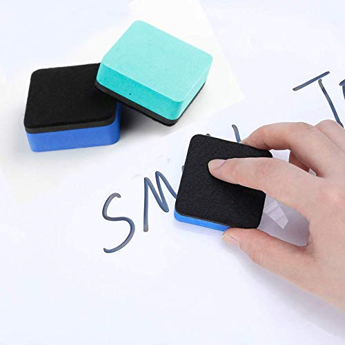 SHANGXING 24 Pack Magnetic Whiteboard Dry Eraser Bulk Chalkboard Cleansers Wiper for Home Office and School (2 x 2 inch, 4 Colors) by SHANGXING (Image #3)